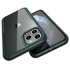 Apple iphone 11 – Green transparent Shockproof Case-2 shop in factory