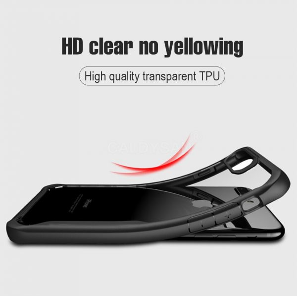 Apple iphone 7 plus – Black Transparent shockproof Case-3 shop in factory