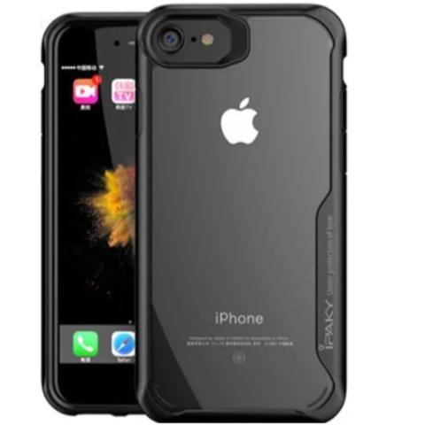 Apple iphone 8 – Black transparent shockproof-1 shop in factory