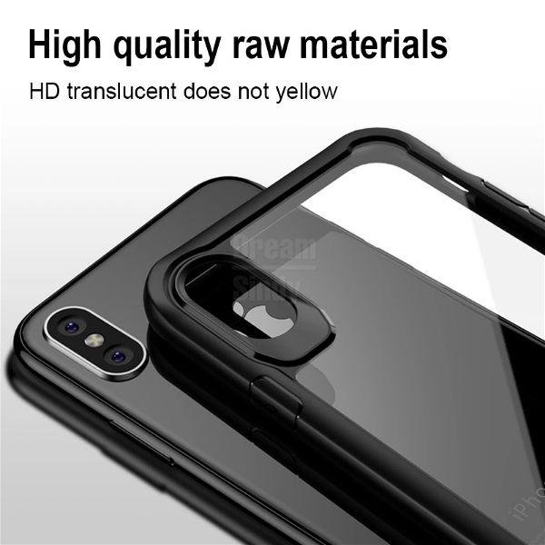 Apple iphone Xs – Black transparent shockproof-2 shop in factory