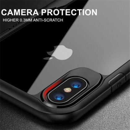 Apple iphone Xs max – Black transparent shockproof-3 shop in factory