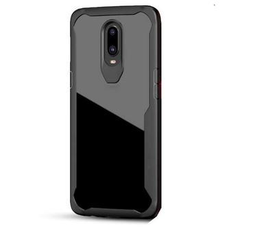 Oneplus 6t – Black Transparant shockproof Case-1