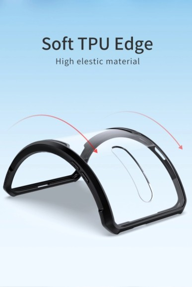 Oneplus 7 pro – Black Transparant shockproof Case-2 (1)