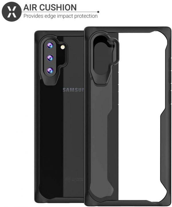 Samsung Note 10 plus – Black transparent Shockproof case 3 shop in factory
