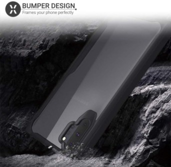 Samsung Note 10 plus – Black transparent Shockproof case 5 shop in factory (1) (1)