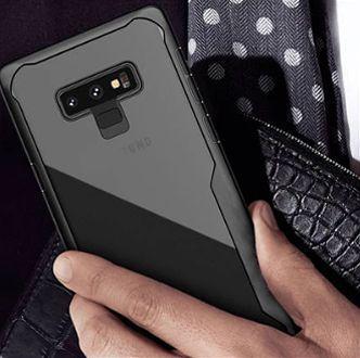 Samsung Note 9 – Black transparent Shockproof case-1-shop in factory