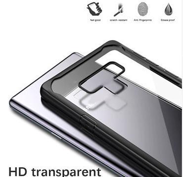 Samsung Note 9 – Black transparent Shockproof case-3-shop in factory