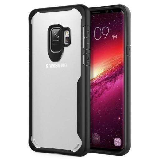 Samsung S9 – Black transparent Shockproof case 1 shop in factory (1) (1)