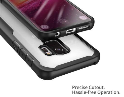 Samsung S9 – Black transparent Shockproof case 2 shop in factory (1) (1)