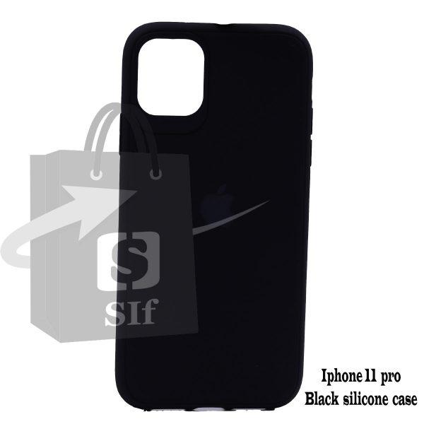 Apple iphone 11 pro – Black silicone case 1