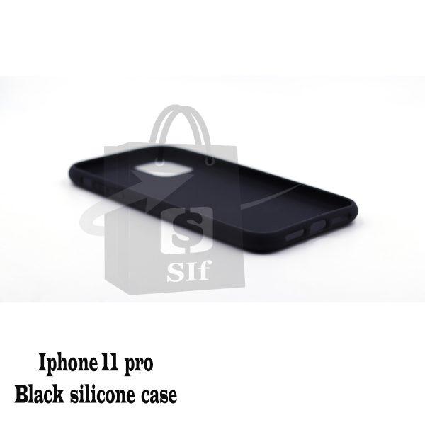 Apple iphone 11 pro – Black silicone case 2