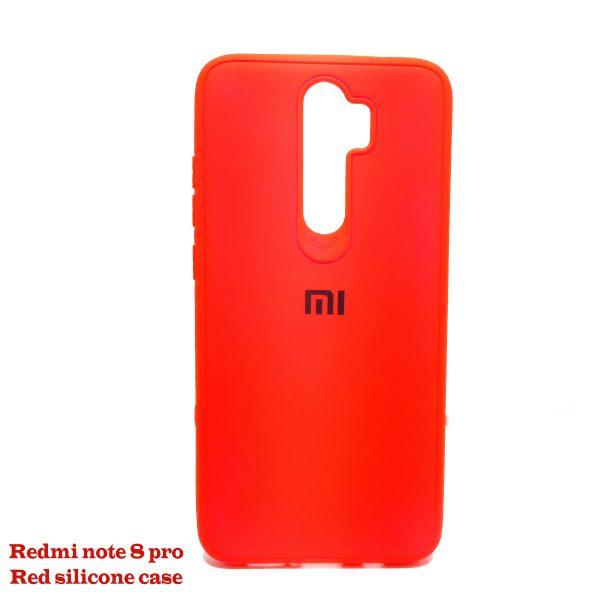 Redmi note 8 pro Red silicone case 01