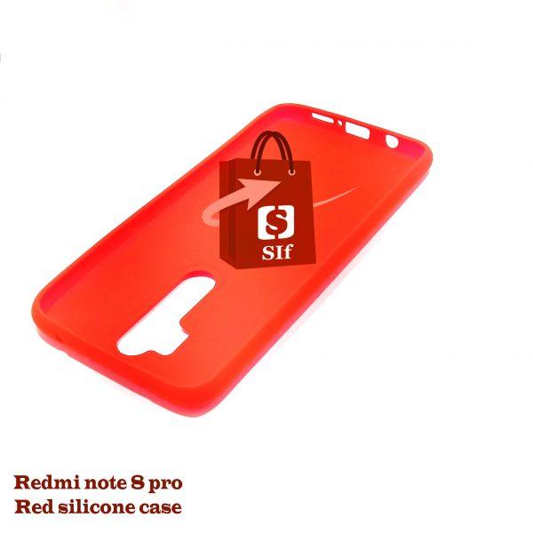 Redmi note 8 pro Red silicone case 1