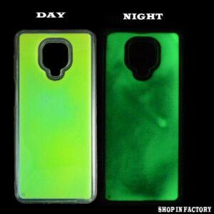 REDMI NOTE 9 PRO MAX - GREEN GLOW IN THE DARK PROTECTION CASE