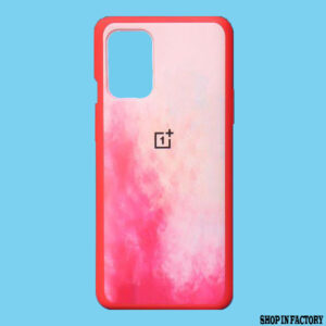 ONEPLUS 9R- PINK OIL RAINBOW SILICONE PROTECTION CASE 1