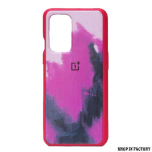 ONEPLUS 9R - PURPLE OIL RAINBOW SILICONE PROTECTION CASE 1