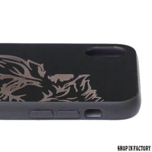 APPLE IPHONE X MAX – BLACK LION MIRROR SILICONE CASE