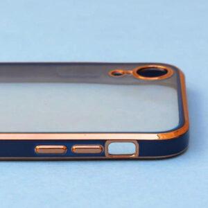 APPLE IPHONE X/XS – BLUE ELECTROPLAT TRANSPARENT PROTECTION CASE