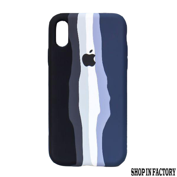 APPLE IPHONE X/XS – BLUE RAINBOW SILICONE PROTECTION CASE