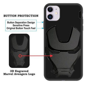 APPLE IPHONE 11 – IRONMAN ENGRAVED LOGO SILICONE CASE