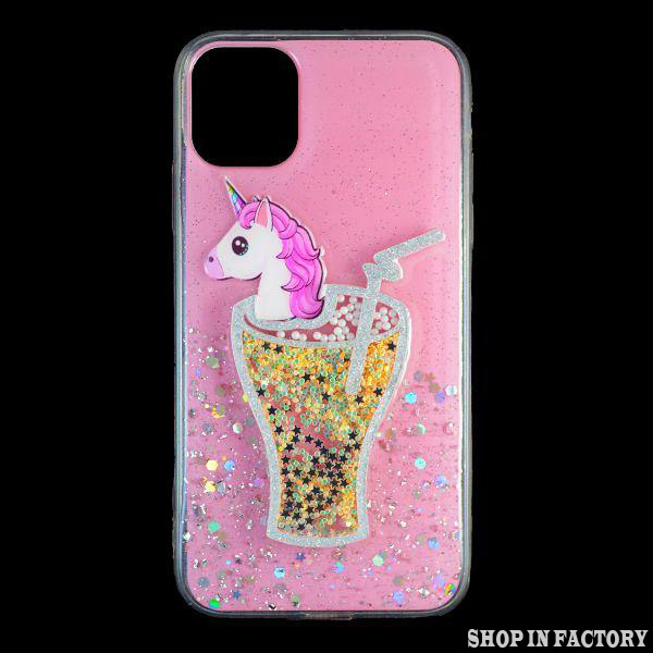 APPLE IPHONE 11 – PINK 3D UNICORN SILICONE CASE