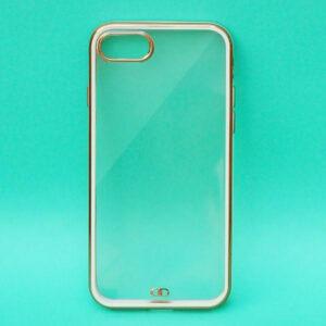 APPLE IPHONE SE 2020 – WHITE ELECTROPLAT TRANSPARENT PROTECTION CASE