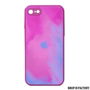 APPLE IPHONE SE 2020 - PINK OIL PRINT MIRROR PROTECTION CASE